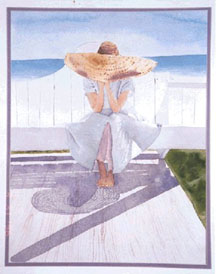 Lady in Hat, watercolor