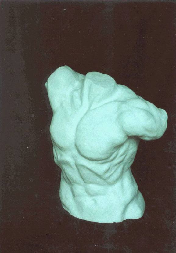 Plaster torso of Laocoon group
