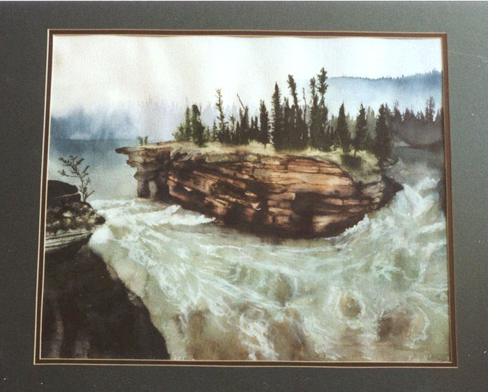 Rushing River, watercolor